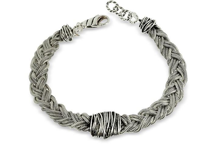 Sterling Silver Braid w/Etruscan Knot - Giacomo Burroni