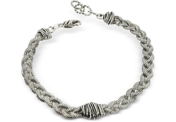 Braid Bracelet w/Etruscan Knot - Giacomo Burroni