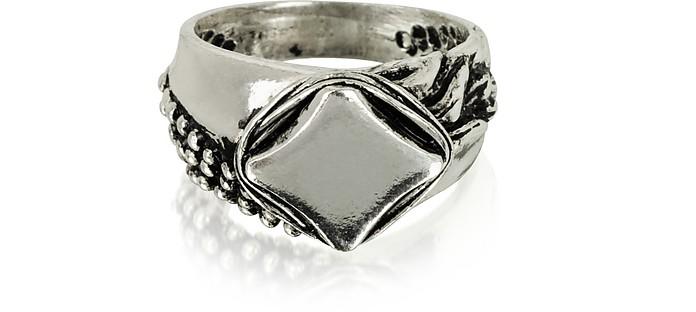 Sterling Silver Chevalier Ring - Giacomo Burroni