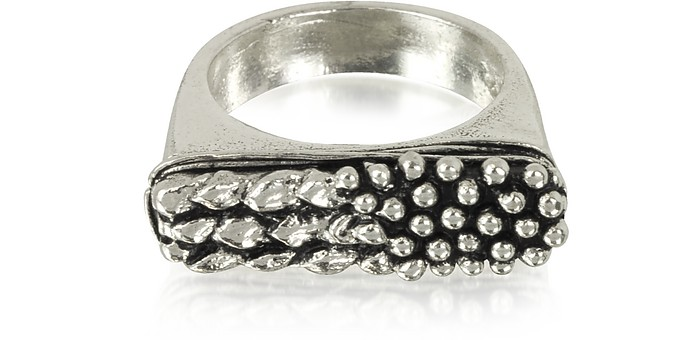 Carved Sterling Silver Ring - Giacomo Burroni