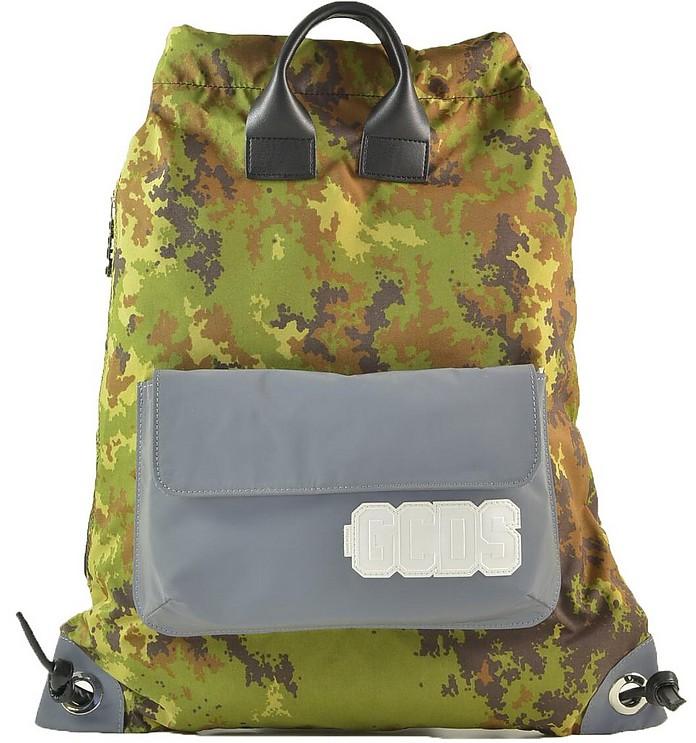 Men's Green Backpack - GCDS