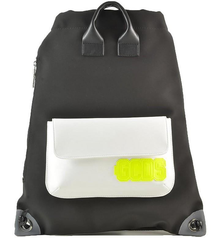 Men's Black White Backpack - GCDS