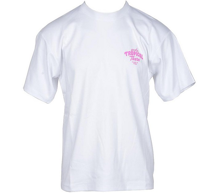 Men's White Tshirt - GCDS