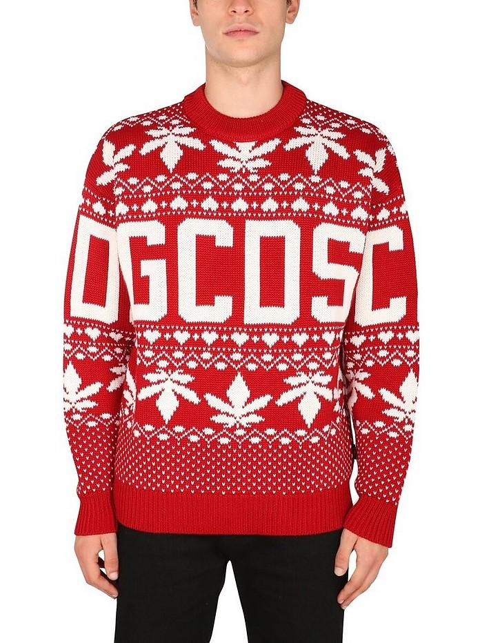 Christmas Sweater With Logo - GCDS