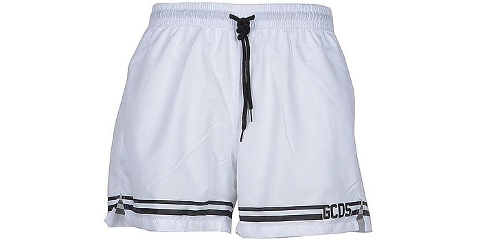 Men's White Swim Shorts - GCDS
