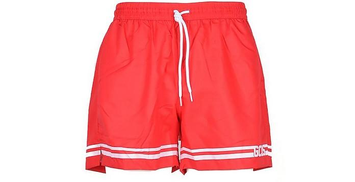 Men's Red Swim Shorts - GCDS