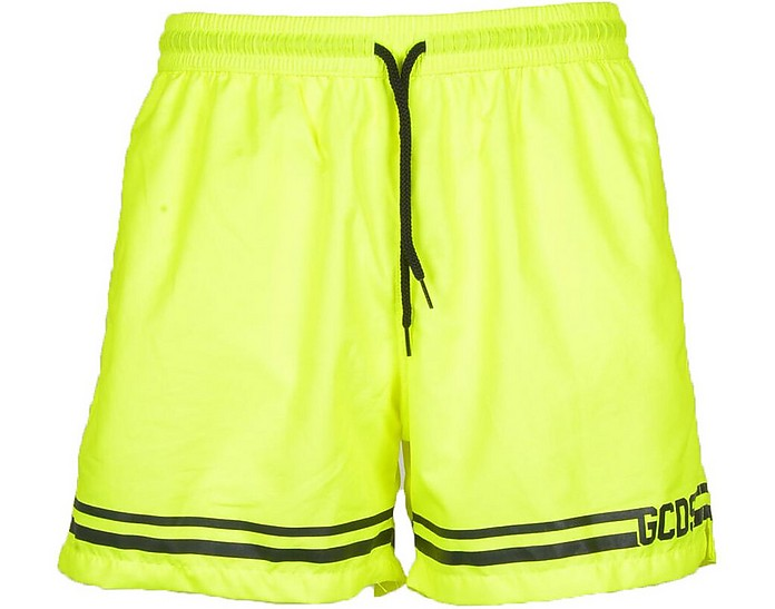 Men's Yellow Swimsuit - GCDS