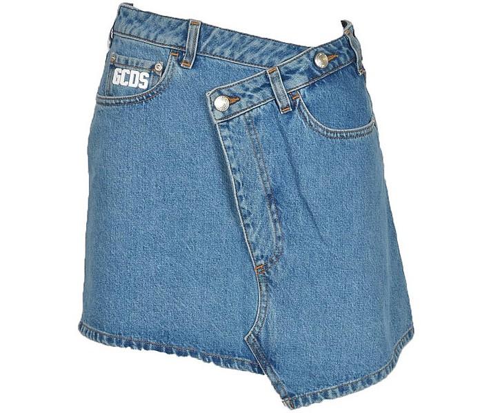 Women's Blue Skirt - GCDS