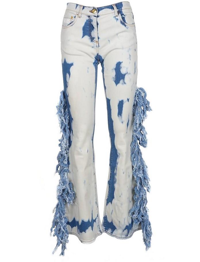 Women's Sky Blue Jeans - GCDS