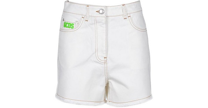 Women's White Shorts - GCDS