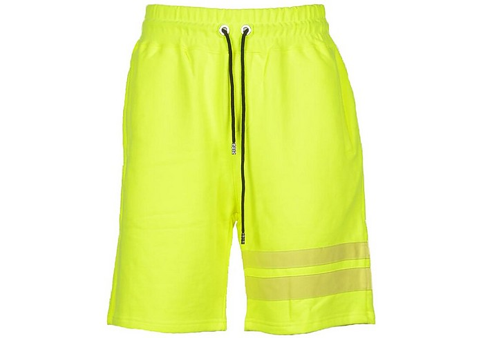 Men's Neon Yellow Bermuda - GCDS