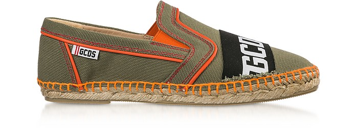Green Signature Canvas Men's Espadrilles - GCDS