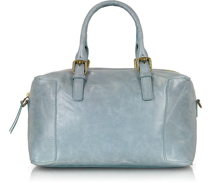 Leather Bowling Plum Bag - Gerard Darel