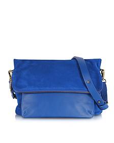 Santiago Mini Mayfair Electric Blue Fold Over Shoulder Bag