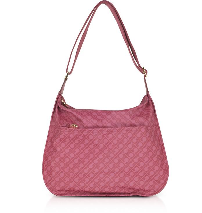Wild Rose Signature Fabric Softy Shoulder Bag - Gherardini