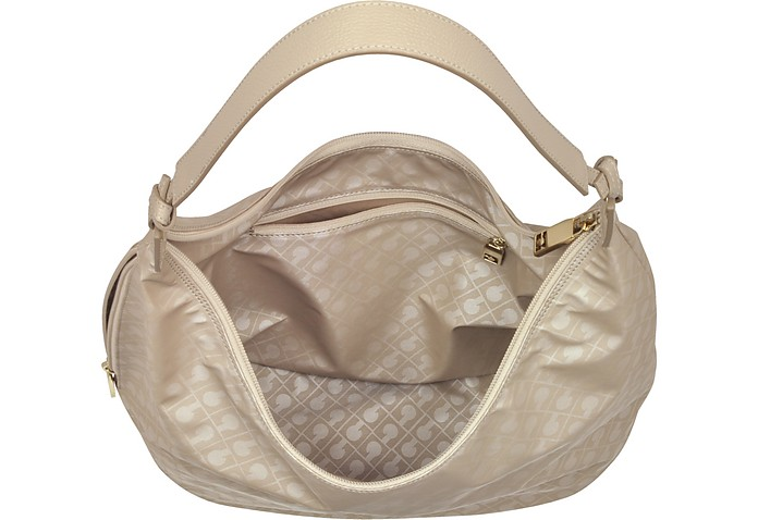 Clay Signature Fabric and Leather Softy Shoulder Bag Gherardini SxOXvMCih