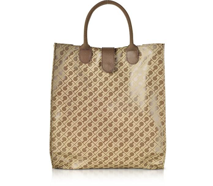 Signature Coated Canvas Softy Foldable Tote Bag - Gherardini