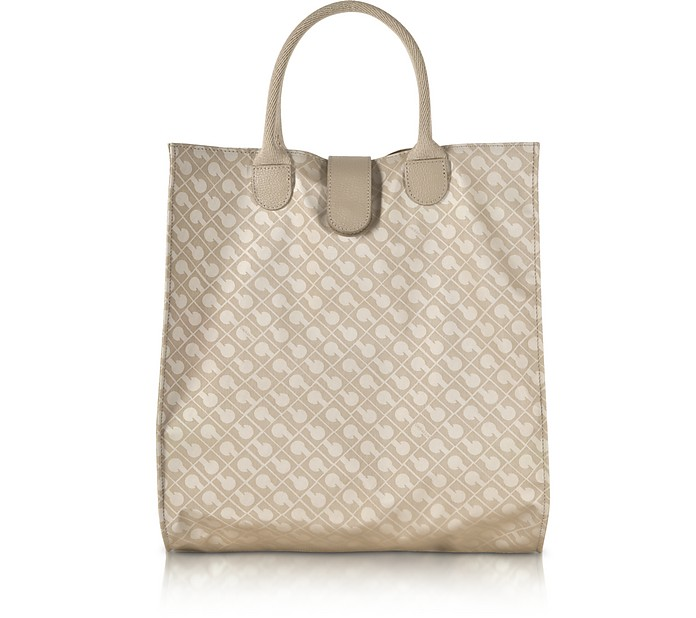 Signature Coated Canvas Softy Foldable Tote Bag - Gherardini
