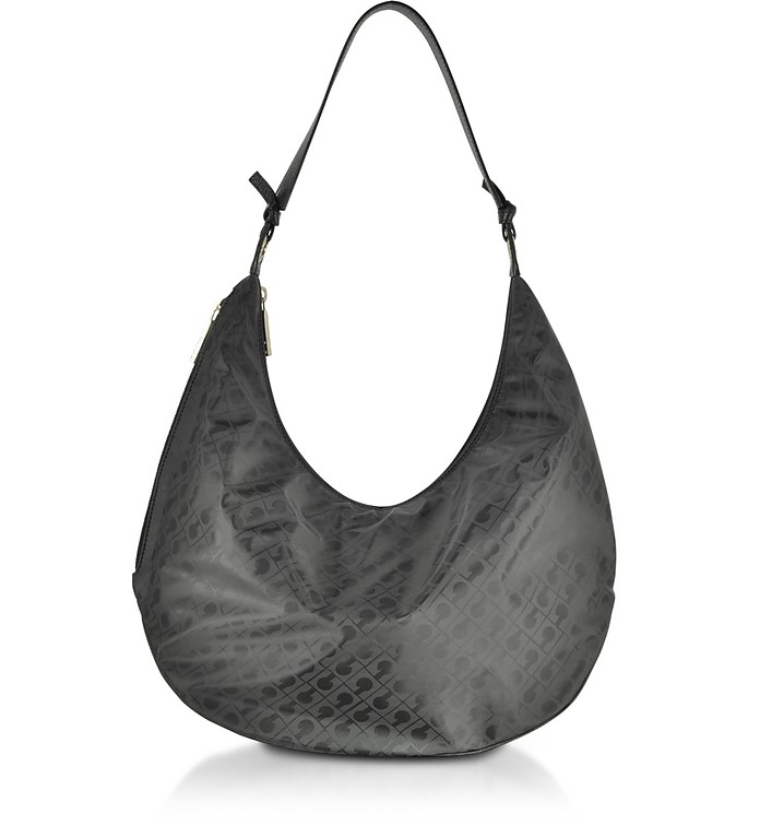 Signature Coated Canvas and Leather Softy Shoulder Bag - Gherardini