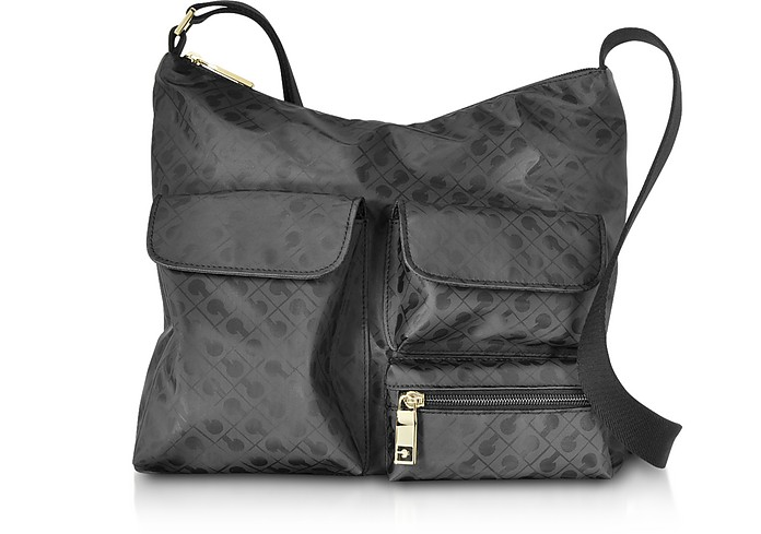 Signature Fabric Softy Shoulder Bag w/Front Pockets - Gherardini