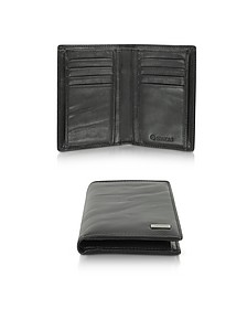 Pleated Leather Men's Vertical Wallet - Gherardini