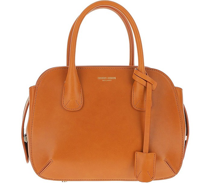 Tan Leather Satchel bag - Giorgio Armani