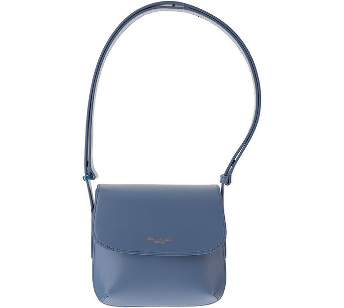 Blue Leather La Prima Shoulder Bag - Giorgio Armani