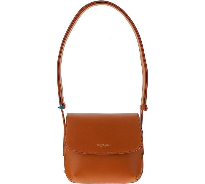 Brown Leather La Prima Shoulder Bag - Giorgio Armani