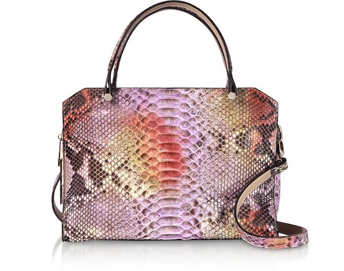 Lilac Python Square Tote Bag - Ghibli