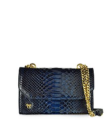 Small Phyton Leather Shoulder Bag - Ghibli