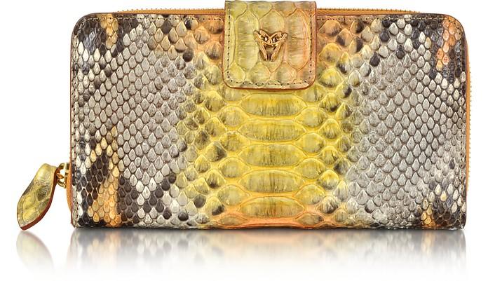 Python Leather Continental Wallet - Ghibli