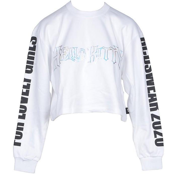 Women's White T-Shirt - Gcds X Hello Kitty