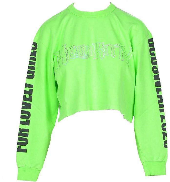 Women's Green T-Shirt - Gcds X Hello Kitty