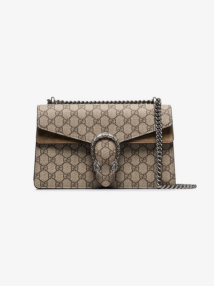 Beige Dionysus GG Supreme shoulder bag - Gucci