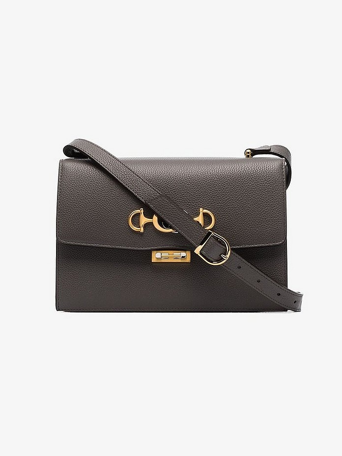 Gucci Shoulder Grey Small Zumi Leather Shoulder Bag