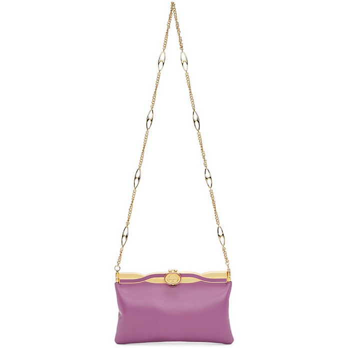 Purple Broadway Evening Bag - Gucci