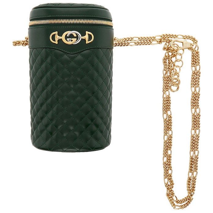 Green Quilted Leather Belt Bag - Gucci