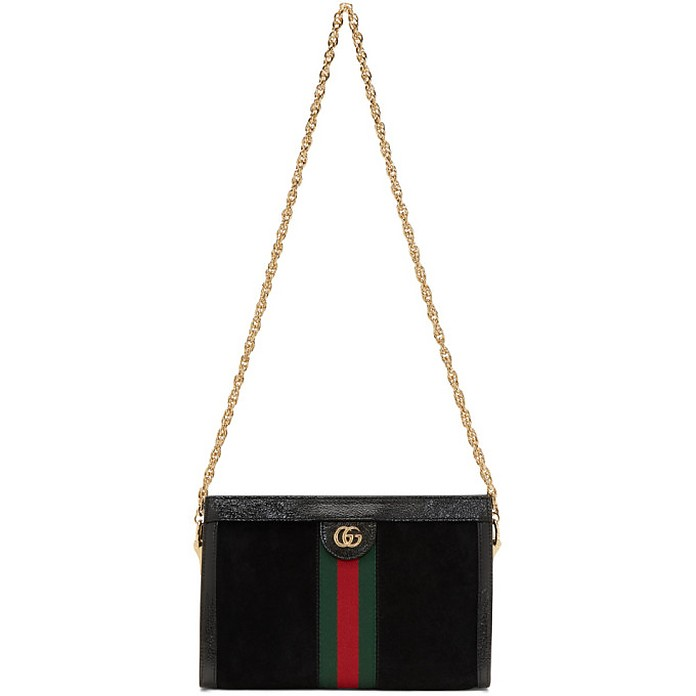 Black Suede Small Ophidia Chain Bag - Gucci