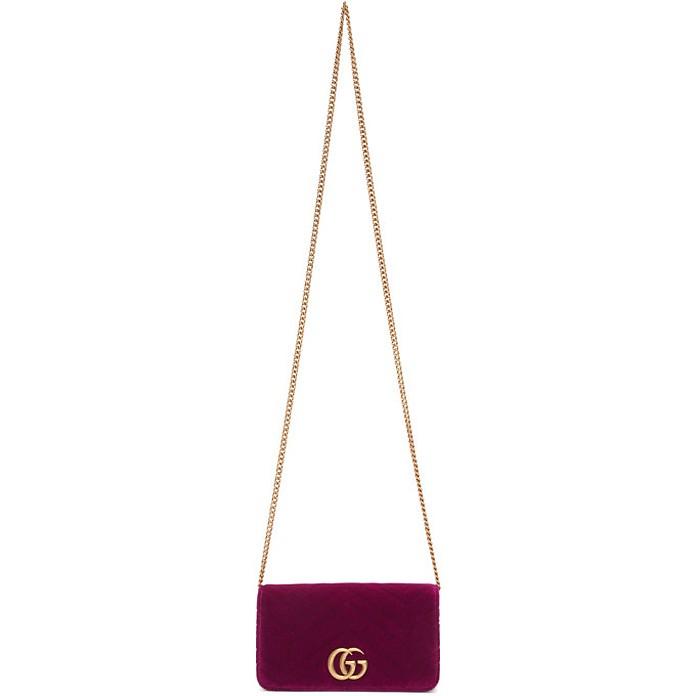 Purple Velvet GG Marmont 2.0 Bag - Gucci