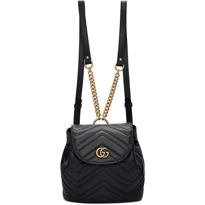 Black Mini GG Marmont 2.0 Backpack - Gucci