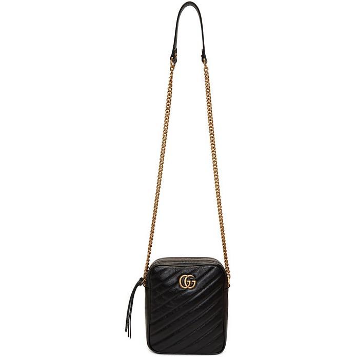 Black Mini GG Marmont Crossbody Bag - Gucci