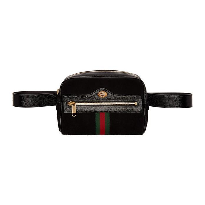 Black Suede Ophidia Belt Bag - Gucci
