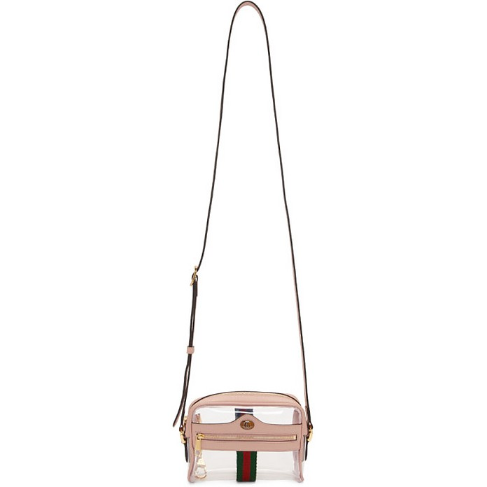 Transparent and Pink Ghost Ophidia Bag - Gucci