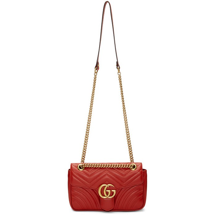 Red Small Marmont 2.0 Bag - Gucci