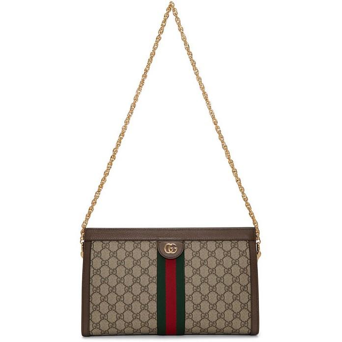 Beige Medium GG Ophidia Bag - Gucci