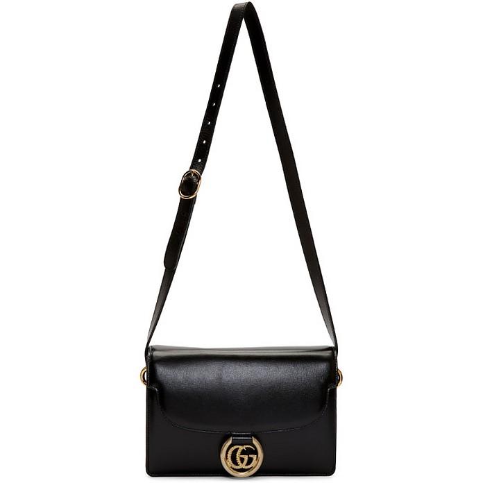 Black Small GG Ring Shoulder Bag - Gucci