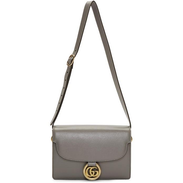 Grey Small GG Ring Shoulder Bag - Gucci