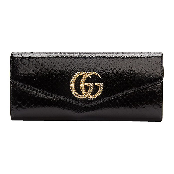 Black Snake GG Broadway Clutch - Gucci