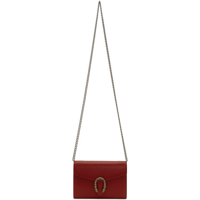 Red Mini Dionysus Wallet Chain Bag - Gucci