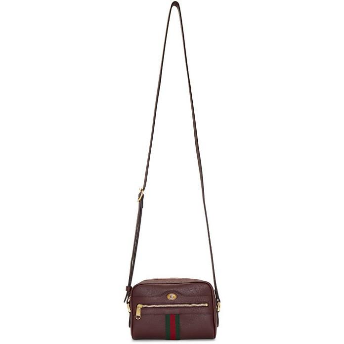 Burgundy Ophidia Shoulder Bag - Gucci